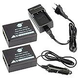 DSTE®(2 Pack)Ersatz Batterie und DC129E Reise Ladegerät Kit für Fujifilm NP-W126 FinePix HS30EXR HS33EXR HS35EX HS50EXR X-A1 X-A2 X-A3 X-E1 X-E2 X-M1 X-Pro1 X-T1 X-T2 X-T10 XFmmf2 Digital Kamera