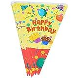 Lot de 2 [Balloon & gâteau] Parti Bannières Hanging Drapeaux Decor Anniversaire