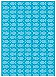 Ursus 13334601 - Fotokarton Joy, 300 g/qm, Din A4, Fische, 10 Blatt