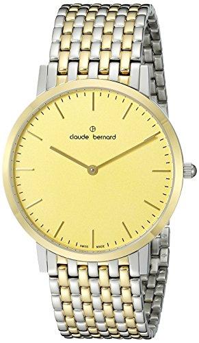 Claude Bernard Men's 20202 357JM DI Gents Slim Line Analog Display Swiss Quartz Two Tone Watch