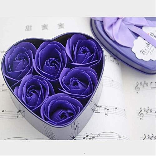 TYKCRt Kawaii Giocattoli di Peluche a Punto Peluche con mazzi di Fiori di soia Rosa Bouquet di Fiori Regalo di Compleanno di San Valentino Viola-J