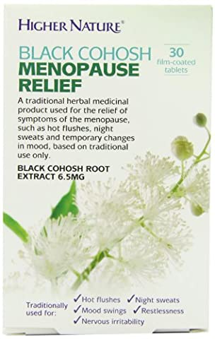 Higher Nature 6.5mg Black Cohosh Menopause Relief - Pack of 30 Tablets