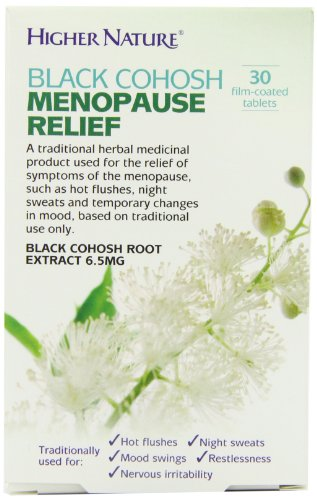 Higher Nature 6.5mg Black Cohosh Menopause Relief - Pack of 30 Tablets Test