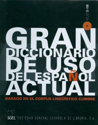 Diccionario SGEL: Gran Diccionario de Uso del Espanol Actual por AA. VV.