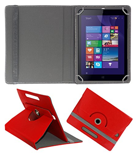 ACM ROTATING 360° LEATHER FLIP CASE FOR IBALL SLIDE WQ32 TABLET STAND COVER HOLDER RED  available at amazon for Rs.159