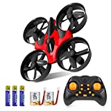 GEEKERA Mini Quadcopter Drone, Altitude Hold RC Drones with 2.4G 6 Axis Headless Mode One Key Return 360 Degree Flips&Rolls Remote Control Toys for Kids Beginners
