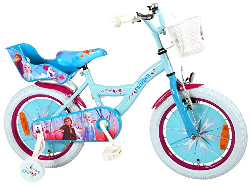 Disney 16 Zoll Mädchenfahrrad Kinderfahrrad Fahrrad Frozen Eiskönigin Bike Rad VOLARE Y-Rahmen