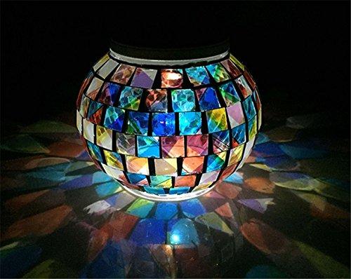 Piccolo lampadario outdoor impermeabile all' aria aperta led illuminazione solare solar colore mosaico mason jar luci lanterna da appendere luci da giardino con gruccia giardino patio decorazioni induzione di prato giardino luci luci a energia solare per esterni