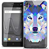Caseink Coque pour Wiko Lenny 4 (5) Housse Etui [Crystal Gel HD Polygon Series Animal...