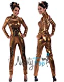 NawtyFox Bronze Fetish Metallic Bodysuit