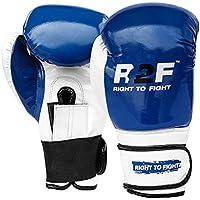 R2F Sports Puñetazos Mitts Formación Sparring Muay Thai Cuero Coluber Shine Boxeo Guantes