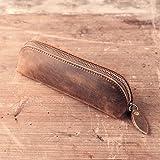 Xiduobao Handmade retro vintage vera pelle matita custodia morbida in vera pelle del supporto della matita della penna della borsa.