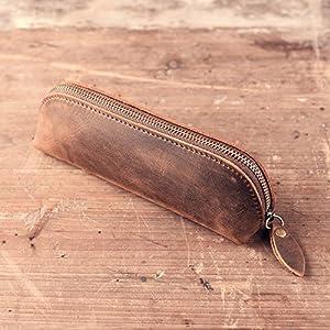 Lapicera Xiduobao hecha a mano, funda retro, funda de cuero vintage, lapicera de cuero auténtico, funda contenedora…