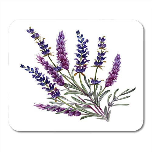 pad-Matte, French Lavender Watercolor for Valentine's Day Wedding Sales and Other Events in of Movie Fabrics Mouse Pad,Desktop Computers Mouse Mats, ()