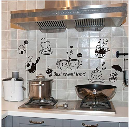 HAJKSDS Kitchen Wall Stickers Coffee Candy Food DIY Wall Art Decal Decoration Oven Dining Wallpapers PVC Wall Decals/Adhesive