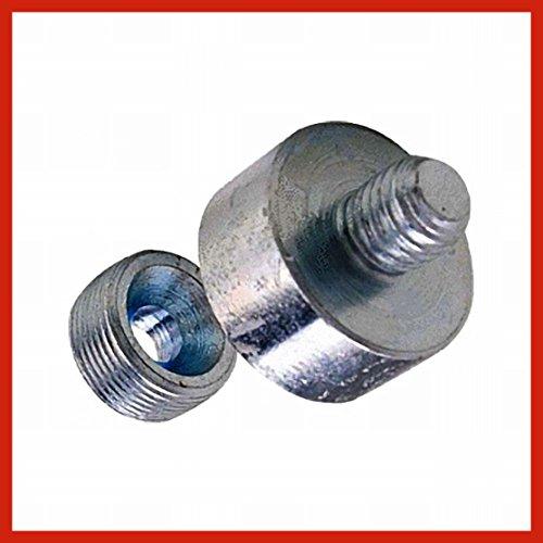 Adapter Dachrinne (1 Stück Fassaden - Adapter M-10 mm Stahl - Verzinkt)