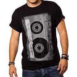 Camiseta Musica Hombre - Casete - XL