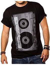 Cooles Musik T-Shirt mit Motiv TAPE KASSETTE schwarz Männer S-XXXL