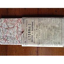Grande carte routière Lyonnais, Savoie, Dauphiné au 1/250 000e. Editions Taride. Sans date. (Carte, Lyonnais, Dauphiné, Savoie)