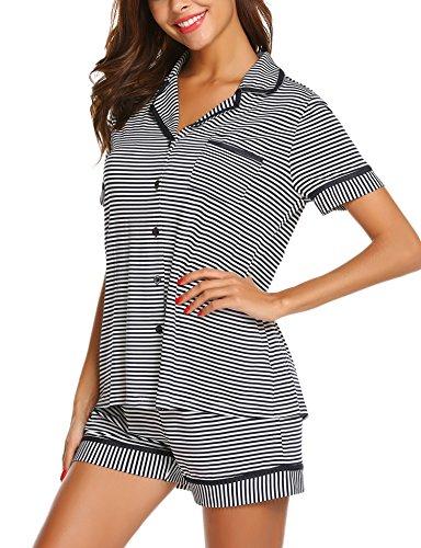MAXMODA Women's Lightweight Sleepwear Pajama Pj Set (Pj Kurze Set)