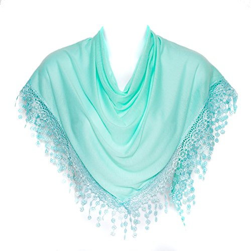 aue Dreieck Klöppeln Gesäumten Damen Frauen Schal Schal Verpackung (Tiffany Schal)
