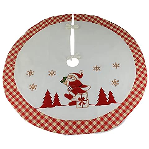 Wewill Marke Luxus dicken Weihnachtsbaum Rock Kreis Dekoration Santa Szene mit pastoralen Design Home Dekoration, 35-Zoll / 90CM Durchmesser (Style 6)
