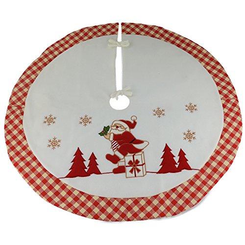WEWILL Marke Luxus dicken Weihnachtsbaum Rock Kreis Dekoration Santa Szene mit pastoralen Design Home Dekoration, 35-Zoll / 90CM Durchmesser (Style 6) Pastorale Szene