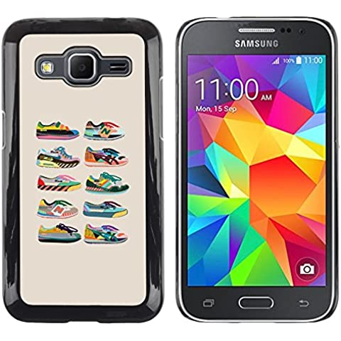DEMAND-GO Smartphone Rígido Protección única Imagen Carcasa Funda Tapa Skin Cover Case Para Samsung Galaxy Core Prime SM-G360 - sneakers shoes trainers collection beige