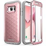 Étui pour Galaxy S7 Edge, Clayco [Série Hera] Étui robuste ajusté avec protecteur d'écran pour Samsung Galaxy S7 Edge (Édition 2016), Or rose