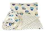 Baby's Comfort Parure de lit bébé réversible Housse de couette + taie d'oreiller