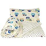 Baby's Comfort Parure de lit réversible pour bébé Couette / housse de couette et taie d'oreiller