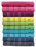 Betz Badetuch XXL Strandtuch LINES 100% Baumwolle verschiedene Farben Größe 90 x 180 cm Farbe pink