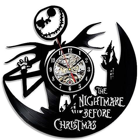 Funny cauchemar avant Noël Horloge en vinyle