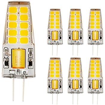 Ahevo 4 W 20*2835 SMD 350LM luz bombilla LED G4,cristal Lámparas, AC/DC 12 V, equivalente a 30 W bombilla incandescente de repuesto bombillas halógenas, ...