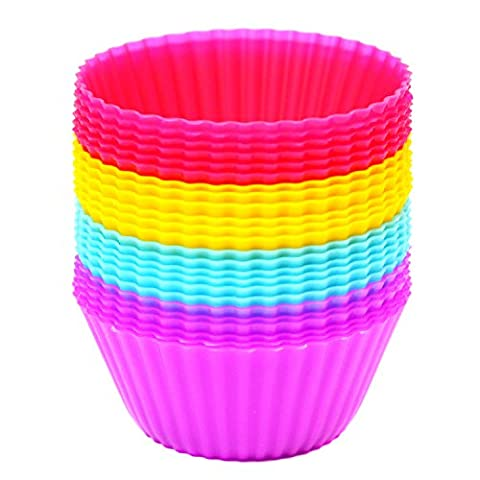 Magnus Home 24 Cupcake Cases Pack Multicoloured - Silicone Cupcake