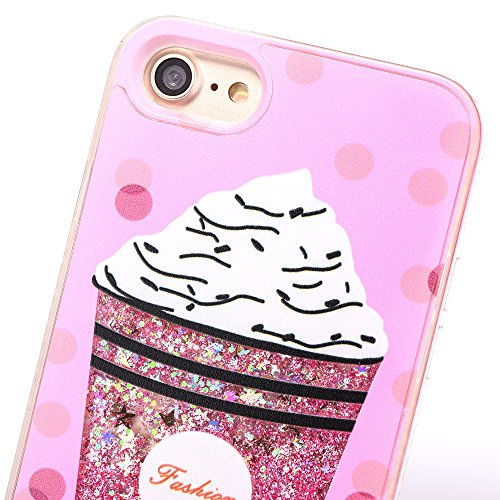 iPhone 7 4.7 Hülle, Voguecase Silikon Schutzhülle / Case / Cover / Hülle / TPU Gel Skin für Apple iPhone 7 4.7(Perlen Treibsand-Hustle Baby-Pink) + Gratis Universal Eingabestift Eis 04 / Pink