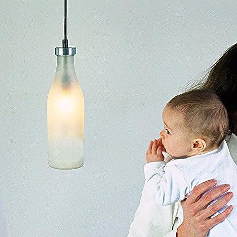 VanMe Leche De Botella Lámparas Araña Creativa Iluminación Lámparas