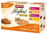 Animonda Rafine Adult Katzenfutzter Vielfalt in Gelee, 4 x 12er Mix-Pack (48 x 100 g)