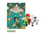 Carlsen Die Schule der magischen Tiere 10: Hin und Weg! (Gebundenes Buch) + 1. Coole Voodoo Puppe (Verschiedene Motive, inkl. Schlüsselring)