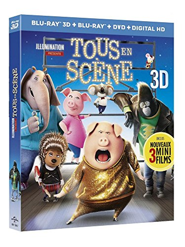 Tous en scène [Combo Blu-ray 3D + Blu-ray + DVD + Copie digitale]