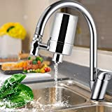 WaterQueen Faucet Water Filter, Long-Lasting Tap Water Purifier System for Home Kitchen, Faucet