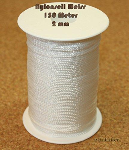 1 Rolle Nylonseil Polyamid-Seil geflochten weiß 150m x 2mm - 1 Nylon-seil 2