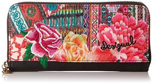 Desigual ZIP AROUND CASILDA - Portafogli Donna, Rosa (3062), 19x9.5x2 cm (B x H x T)