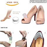 Pedimend Soft Fabric Pads (4pair) - Abrasion & Blister Resistant - High Heel Comfort Pads - Leather Grip High Heel Screen Protector - Eliminates Slip and Rub - Prevent Skin Irritation - Foot Care
