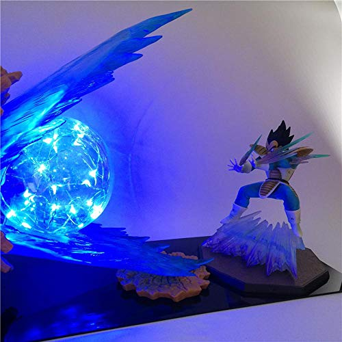 Dragon Ball Z Son Goku Lámpara de mesa Iluminación decorativa Anime DIY Figura de acción Lámpara de mesa Niños Lámpara LED Juguete ligero, B