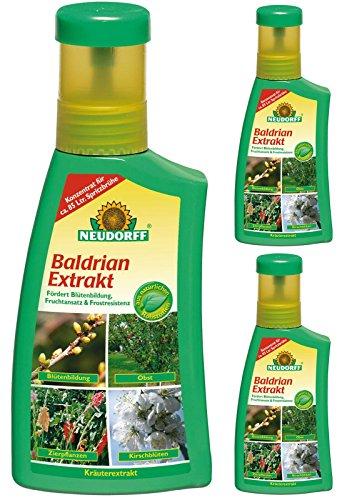 3 x 250 ml Neudorff Baldrian Extrakt Pflanzenhilfsmittel & Bodenhilfsstoff