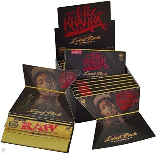 Wiz Khalifa Artesano Stil-Laut Pack-King Size Slim Raw Classic Zigarettenpapier + Tips + Tablett (Neuware vom Raw)-3Heftchen