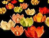 Schwimmlaterne XXL schwimmende Laterne - Blüte Wasserlaterne Hochzeit 6 Stück von Haus der Herzen ®