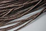 130Meter/Bundle 2,5mm Durchmesser geflochtenen Hanf-Kabel, 2,5mm Hanf Bindfäden Fäden 2.5 dunkelbraun