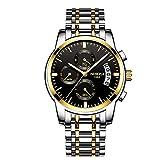 Relojes Hombre Acero Inoxidable Reloj de Pulsera de Lujo Moda Cronómetro
